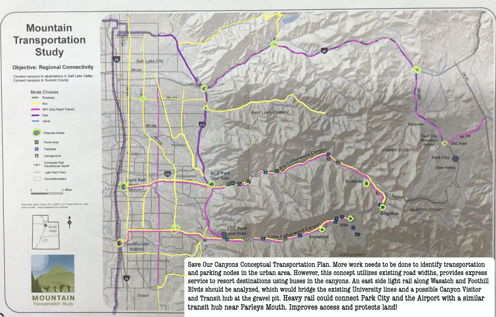 UDOT Deja Vu and CWC Alternative Plans for the Canyons